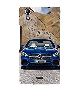 Luxury Blue Car 3D Hard Polycarbonate Designer Back Case Cover for Micromax Canvas Selfie 2 Q340