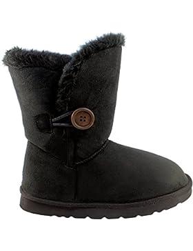 Damen Einzigen Taste Kurz Classic Pelz Gefüttert Winter Regen Schnee Stiefel