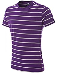 Trespass Mens Dafoe Full Cotton Yarn Dye Striped T Shirt