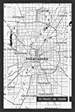 "Weekly Planner: Book With ""Indianapolis"" Indiana Map Cover Design ( USA )"