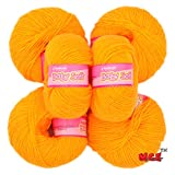 #1: Vardhman Acrylic Knitting Wool, Pack of 6 (Yellow) (Pack of 6)