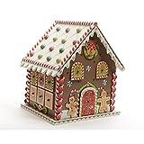 Calendrier de l'avent maison pain d'épices en bois marron/rouge 23x20x27cm SWEET XMAS