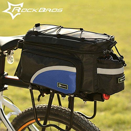 MaMaison007 ROCKBROS moto borsa bicicletta posteriore sedile borsa coda borsa gerla borsa - blu - Atletica Sedile