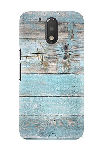 Kawach Phone Case/Back Cover for Moto G4 Plus / Moto G Plus (4th Generation) - Blue Wood Printed Case