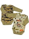 Klekle Baby Jungen Langarm Body (2er Pack) Camouflage/Army Style 22808 Größe 68