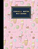 "Cornell Notes Notebook: Cornell Note Taking Books, Cornell Notes Pad, Note Taking System Notebook, Cute Ice Cream & Lollipop Cover, 8.5"" x 11"", 200 pages"