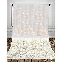 Coloc Photo® 150*300cm Or lumière spot bokeh studio photo fond backfrop en le tissu de l'art pour nouveau - né Fur décors D-9710