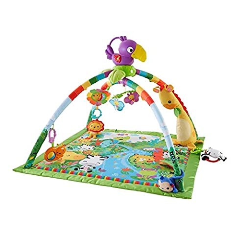 Playful Large Quilted Play Mat Rainforest Music & Lights Deluxe Gym - Packed With Activities That Can Provide Your Baby With Plenty Of Playtime Fun Throughout The