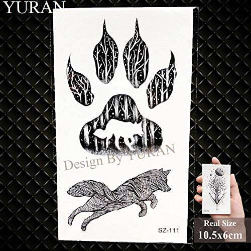 Ghhcg black triangle flower tatuaggi temporanei adesivi donna body arm tatuaggi fasulli tribal bird impermeabile rose tattoo, gsz111