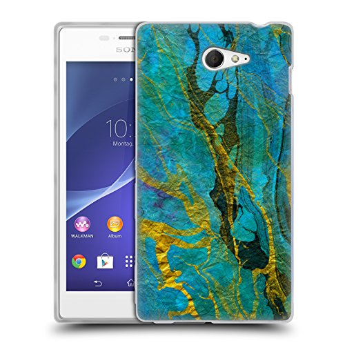 official-haroulita-yellow-teal-marble-soft-gel-case-for-sony-xperia-m2