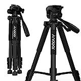 Andoer Treppiedi Fotocamera con Testa a sfera Treppiede reflex Treppiedi per Videocamera canon nikon gopro carico 3kg con borsa