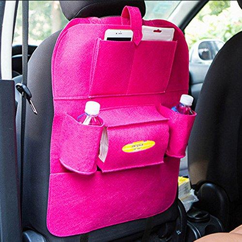 Sedeta Waterproof épais auto siège arrière de voiture Organisateur Coupe Voyage Téléphone sac de rangement, gris sac de rangement voiture Sac de rangement extra large sac de rangement pour voiture tou