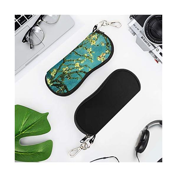 Loro arbol Bolsa de Llaves Sunglasses Case con Clip de Cintur/ón para Gafas Caja de Neopreno Ultra Ligero con Cremallera Almacenaje Lente Suave L/ápices MoKo Funda de Gafas Tarjetas