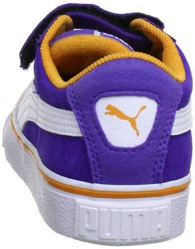 Puma Puma S Vulc V Kids, Baskets mode mixte enfant Violett (liberty blue-white-aprico 25)