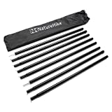 HELEISH 8Pcs Black Canopy Portico Telo copri tenda Tenda dritto re polo Outil accessoire