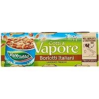 Valfrutta Borlotti, Cotti a Vapore - Pacco da 3X150 gr