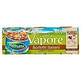 Valfrutta Borlotti, Cotti a Vapore - Pacco da 3 Scatole x 150 gr