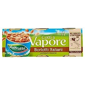 Valfrutta - Borlotti, Cotti A Vapore - pacco da 3x150g (450g)