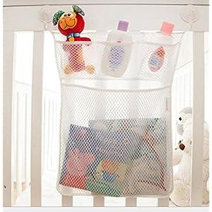 Pizies Baby Bath Bathtub Bathroom Toy Mesh Net Storage Bag Organizer Holder,Suction Cup Bag