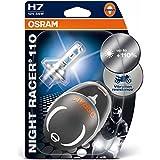 Osram NIGHT RACER 110 64210NR1-02B Night Racer 110 H7 Lámpara Halógena para Faro de Motos, 110% más Luz, 12V, 55W, Casquillo PX26D, Embalaje Blister Doble