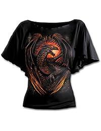 Spiral Dragon Furnace Girl-Shirt schwarz
