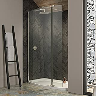 Bathroom Supastore Kudos Ultimate 2 8mm Curved Walk In Recess Shower Enclosure 1700 x 700 with Shower Tray