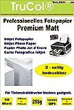 Beidseitig 200 Blatt 10x15 255g /m² PREMIUM MATT Fotopapier matt - sofort trocken - wasserfest - hochweiß - sehr hohe Farbbrillianz fuer InkJet Drucker (Tintenstrahldrucker) Flyerpapier Broschüren Vorlagen