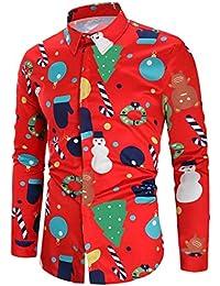 9b28322d7e RAISEVERN Hombres botón Camisas Hawaiian Style Slim Fit Largo Tops Camisa  Manga Vestido