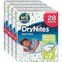 Huggies DryNites Disposable Bed Mats, Mattress Protector, 28 Mats Total (4 Packs of 7 Mats)