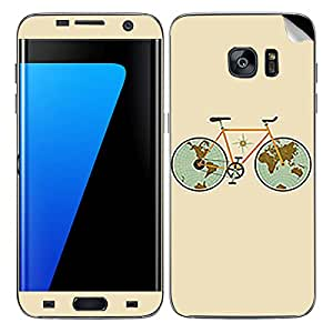 Theskinmantra Map cycle SKIN/STICKER/DECAL for Samsung Galaxy S7
