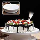 #7: Supermall New 360 Degree Rotating Cake Decorating Revolving Turntable 28 CM Plastic Multi-color