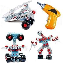 Il Mega Kit per Costruire TG669 per bambini e bambine – Set Giocattolo Costruzione con ben 552 Pezzi per realizzare 10 Diversi Modelli – Kit Robot per Bambini creato da ThinkGizmos (marchio protetto)