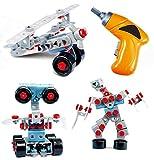 Mega Spielzeugbausatz für Jungen und Mädchen TG669 – Konstruktionsbausatz mit 552 Teilen zum Bauen von 10 Verschiedenen Modellen – Roboter-Set für Kinder von ThinkGizmos (markengeschützt)