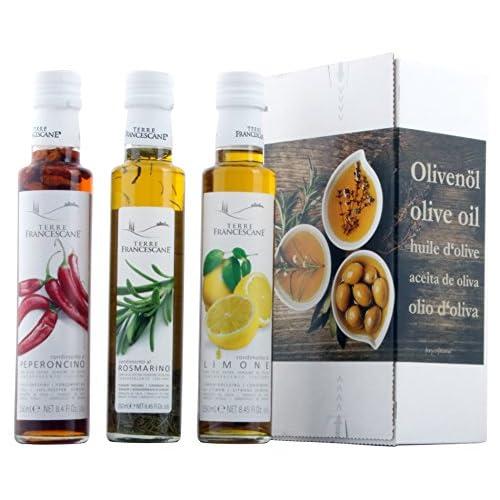 3er Probier Paket Terre Francescane Extra Natives Olivenl Dressing Mit Limonen Rosmarin Und Chili 3 X 250 Ml