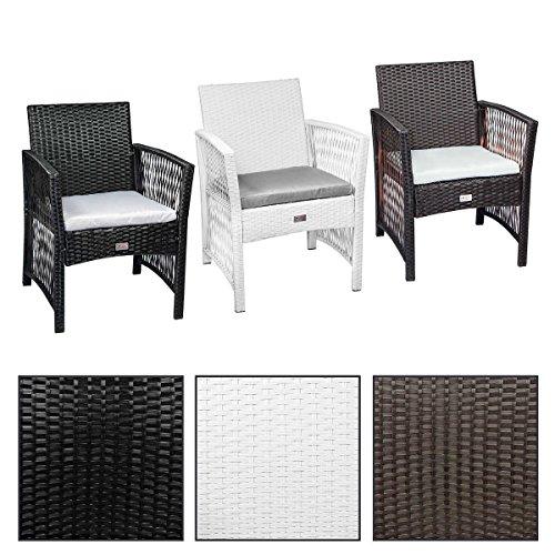 2x ESTEXO® Polyrattan - Gartenstuhl, Gartenmöbel, Stuhl, Stühle, Rattan, inkl. Sitzkissen