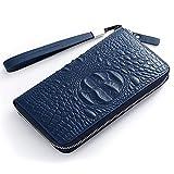 Style Herren Leder Clutch-Tasche Langen Reißverschluss Kupplung Mens Clutch-Tasche Herren Brieftasche Reißverschluss Ledertasche