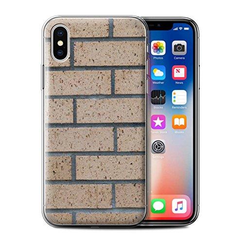 Stuff4 Gel TPU Hülle / Case für Apple iPhone X/10 / Pack 11pcs / Mauerwerk Kollektion Neue/Gelb