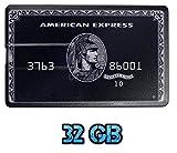 UK A2Z ® American Express Black 32GB Credit Card Style USB Flash Drive / Memory Stick