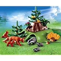 Playmobil Farm 4204: Forest Animals with Cave