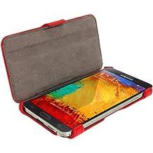 iGadgitz U2623 Eco- Piel Case - Funda Cover Carcasa Para Samsung Galaxy Note 3 III Tablet y Protector de Pantalla ( No Apto Para Samsung Galaxy Note 2), Rojo