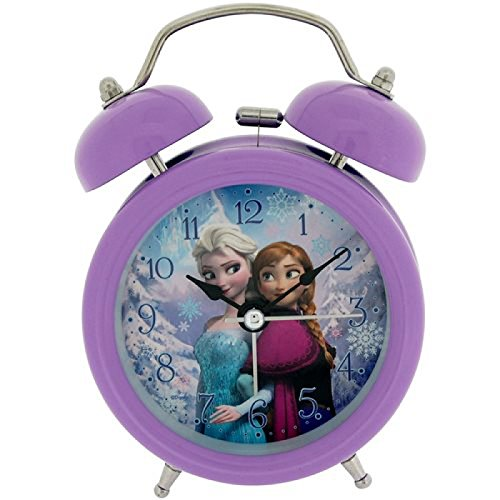 Disney Frozen Elsa y Anna Niños Despertador, Metal, 90x 110mm