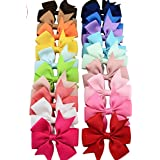 OliaDesign Baby Girl None Slip Bow Tie Hair Clip Mixed 20 Color Assorted Color