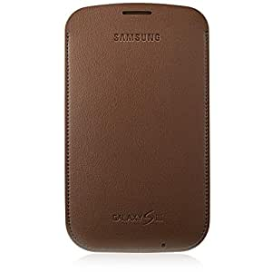 Samsung Original Tasche in Lederoptik EFC-1G6LDECSTD (kompatibel mit Galaxy S3 / S3 LTE) in choco brown