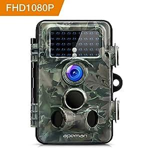 apeman Fotocamera Caccia con Ampio raggio di 130°Lens Fototrappola 12MP 1080P HD Sorveglianza Casa Infrarossi Invisibili Movimento Attivato 0.2s per Visione Notturna 65ft/20m Impermeabilita IP66