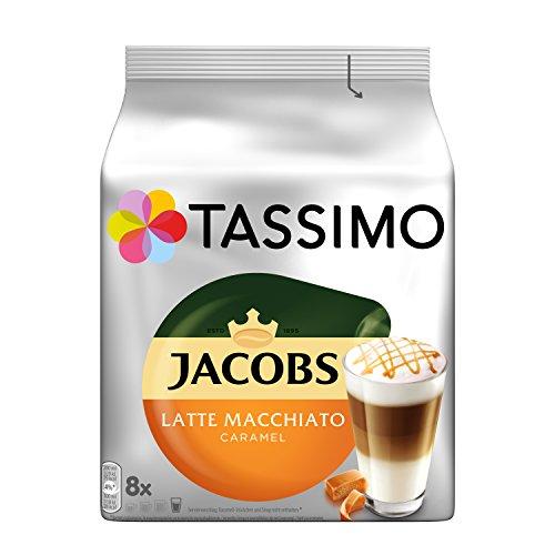 Tassimo Jacobs Latte Macchiato Caramel, 5er Pack Kaffeespezialität T Discs (5 x 8 Getränke)