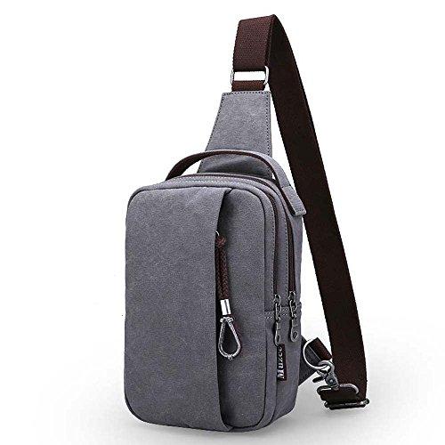 ZHANGRONG- Seni degli uomini Sacchetto del messaggero Zaino casuale del sacchetto della tela di canapa tasche Borse a tracolla (Opzionale a colori) ( Colore : 2 ) 1