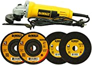 DEWALT DW810 750W 4 inch (100mm) Heavy Duty Small Angle Grinder with Toggle Switch (New Model)
