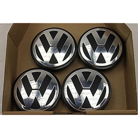4unidades Original Volkswagen Golf Passat Touran 3b7601171Buje Tapa para llantas fa1507