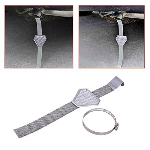beler Silber Universal Auto Metall Anti-statische Reflektor Streifen Gurt Erdung Draht Gürtel (Universal Reflektor)