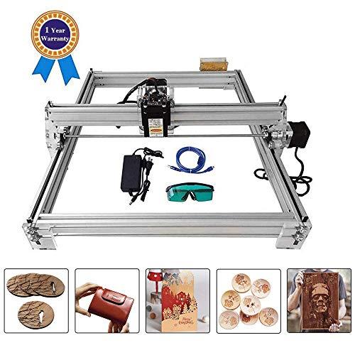 4YANG Carving Machine Kit, Desktop 12V USB Laser Engraver Carver, Gravurbereich 400X500mm, einstellbar Laser Power Drucker Carving & Schneiden mit Brille (2500MW) -